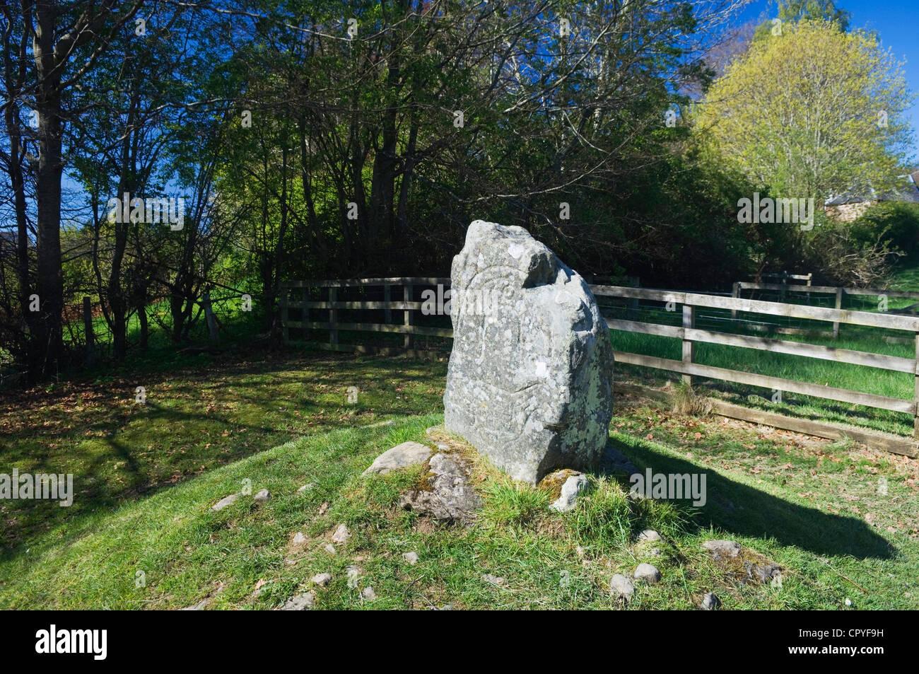 The Eagle Stone, Strathpeffer, Ross-shire, Scotland. Stock Photo