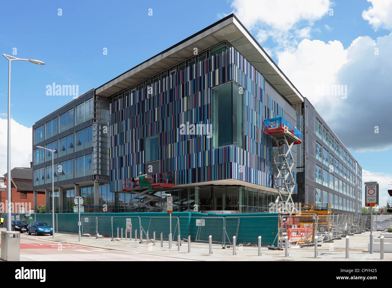 The new Doncaster Council Office at the new Sir Nigel Gresley Civic Square under construction in Doncaster Stock Photo