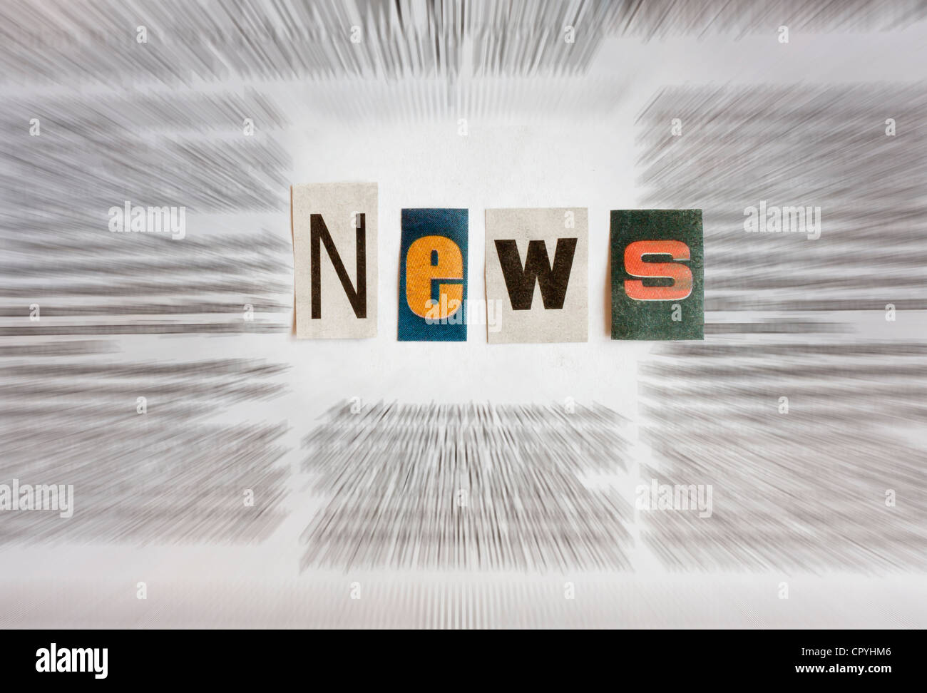 news sign letters newspaper concept - Stock Image