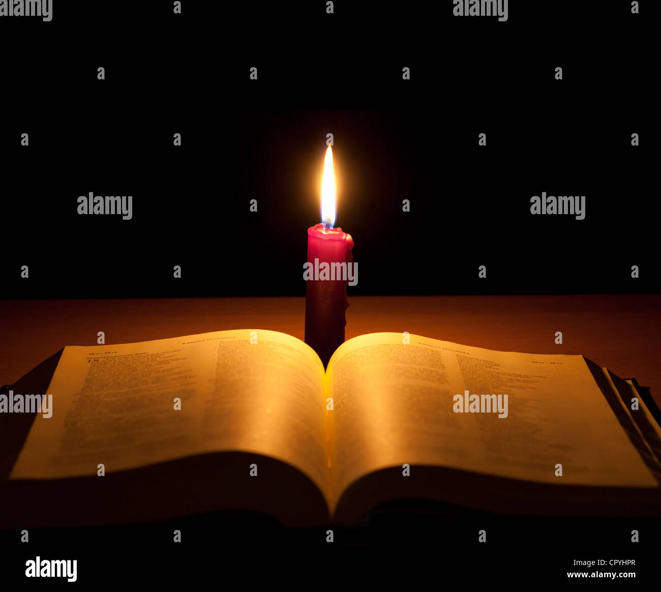 Bible And Candle Searching Of God Abstract Background