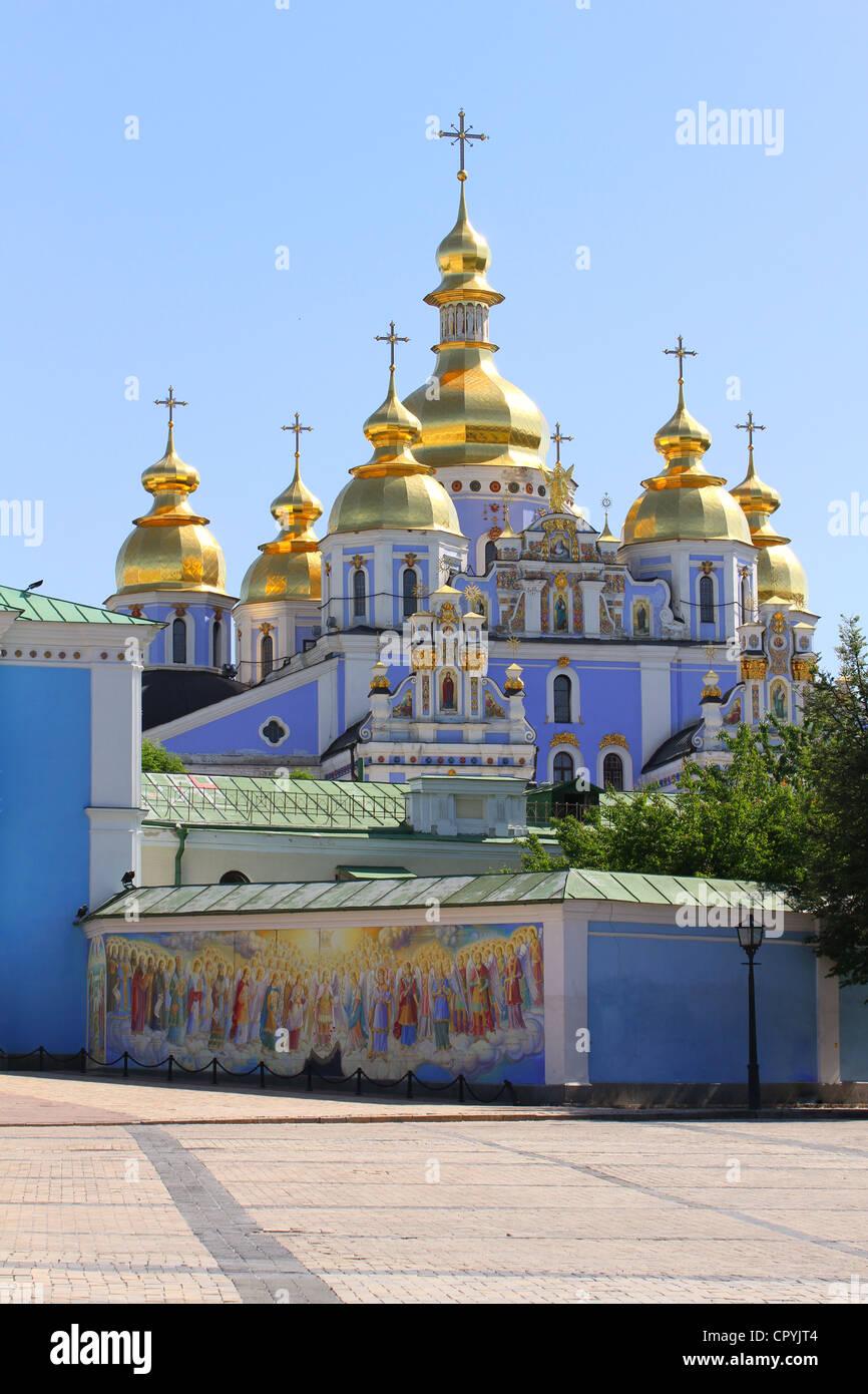 St. Michael's Monastery in Kiev, Ukraine - Stock Image