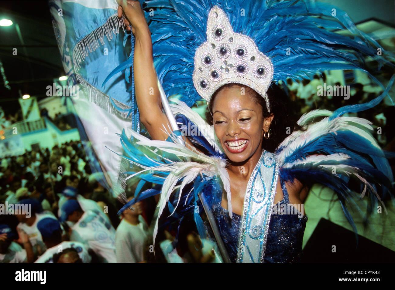 Brazil Rio de Janeiro toutes les écoles de samba font discothèque le samedi soir comme celle de La Porteña - Stock Image