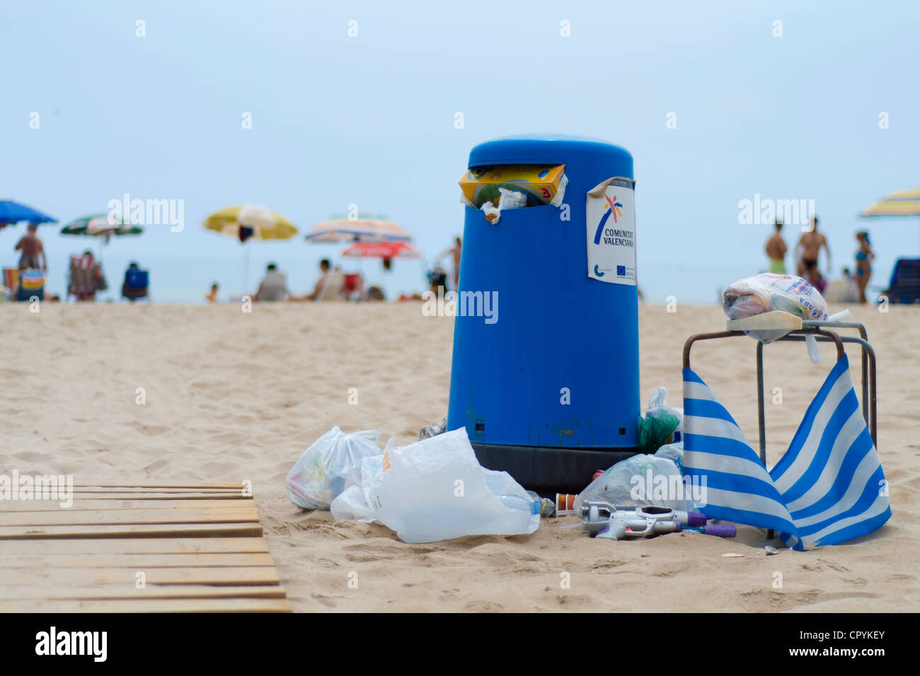 view of a beach - Stock Image