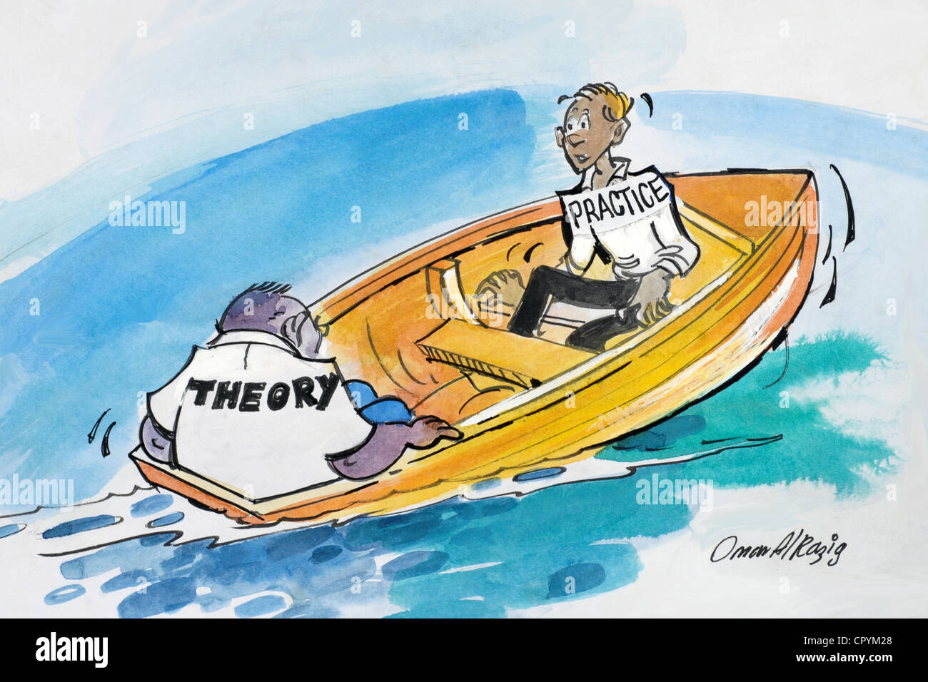 Theory Must Balance Practice - Stock Image