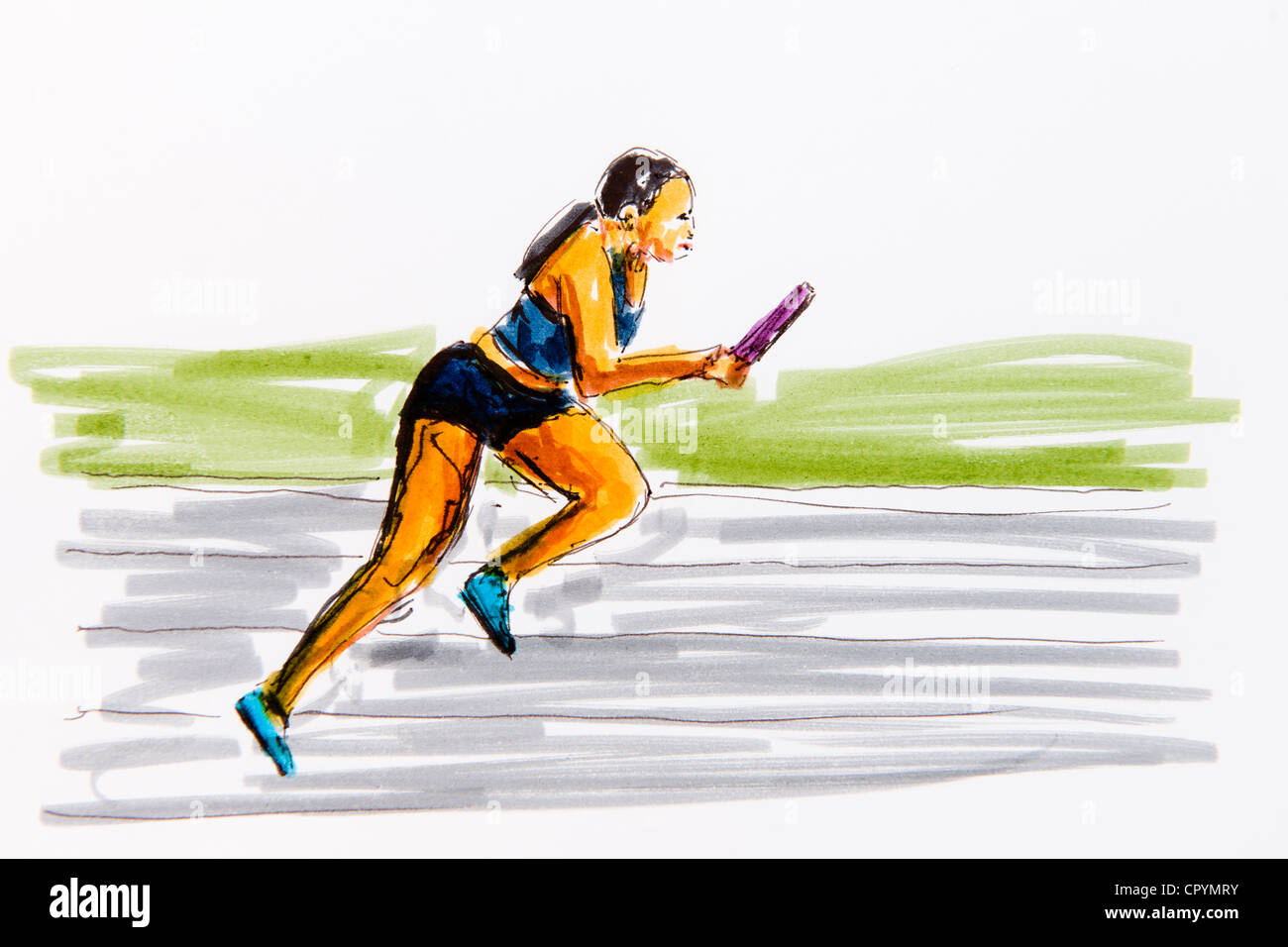 This is a picture of Impeccable Track And Field Drawing