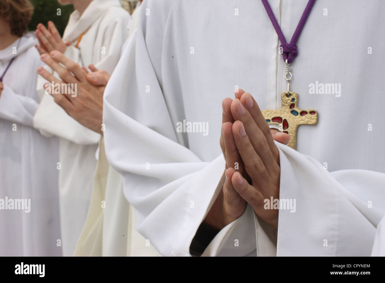 Altar boys, Paris, France, Europe - Stock Image