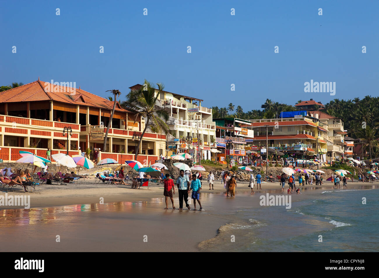 India, Kerala State, seaside resort of Kovalam - Stock Image