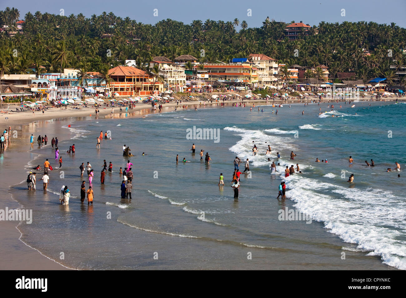 India, Kerala State, seaside resort of Kovalam - Stock Image