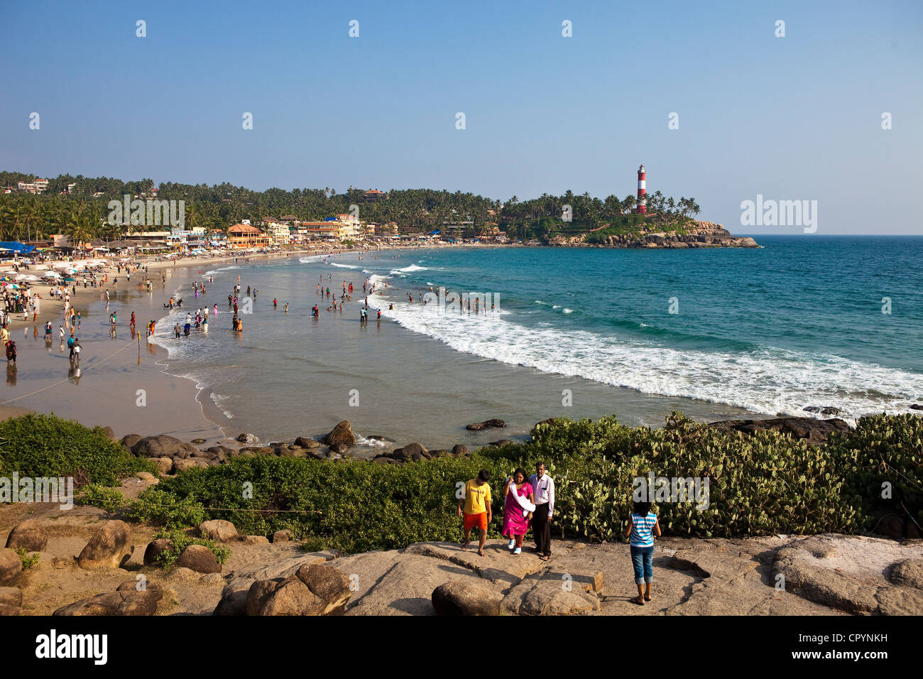 India, Kerala State, seaside resort of Kovalam Stock Photo