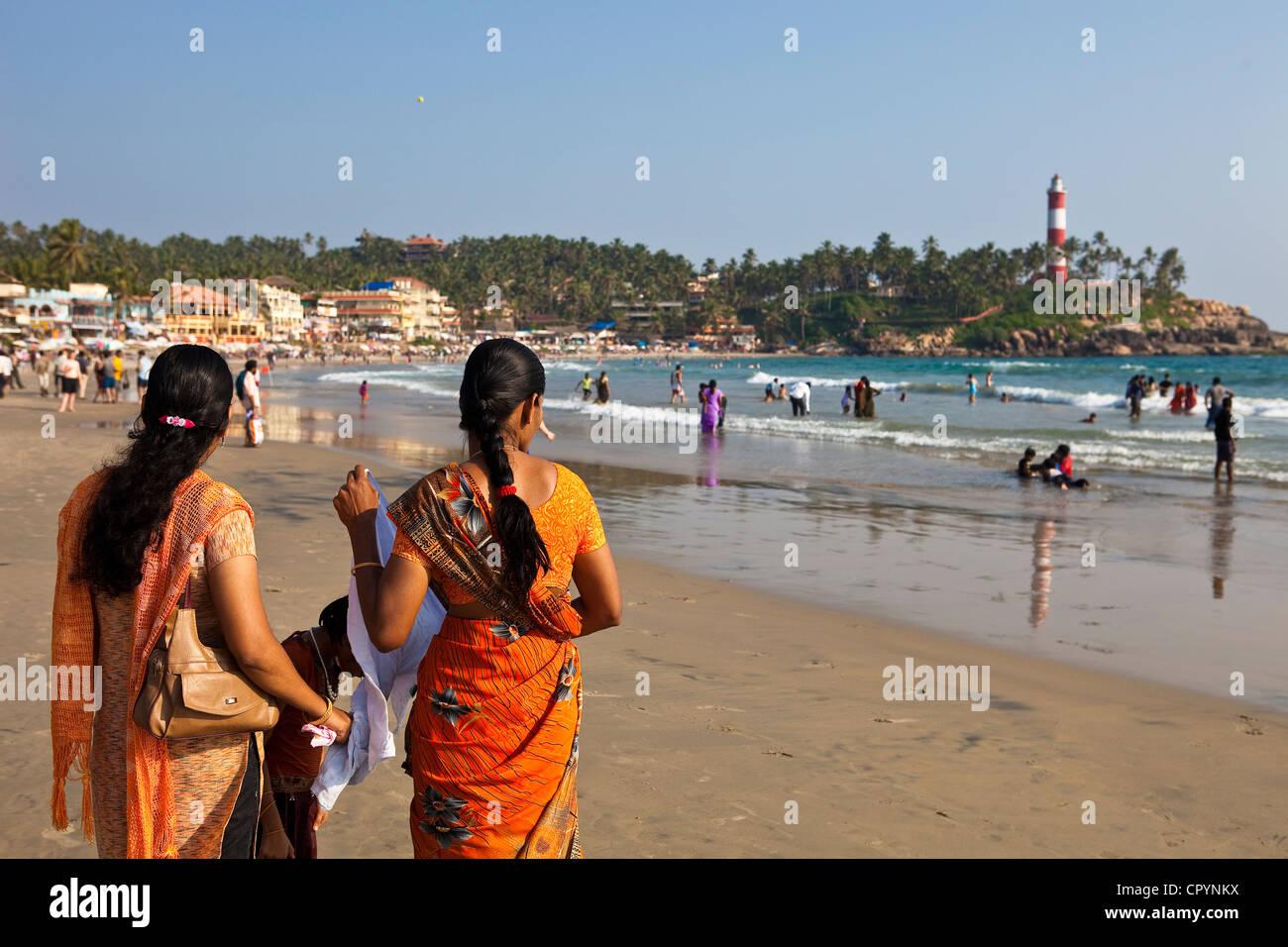 India, Kerala State, seaside resort of Kovalam Stock Photo