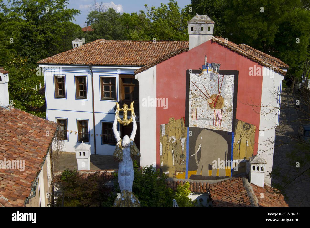 Georgi Bozhilov Slona House, Modern Art Gallery, Old Town, Plovdiv, Bulgaria, Europe - Stock Image