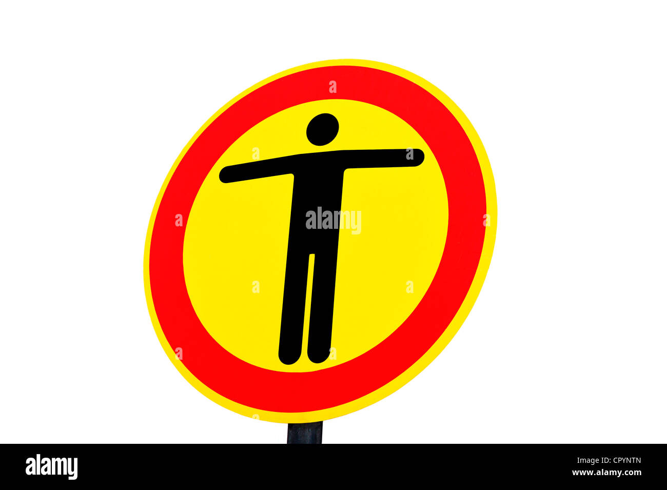 Sign, stop, no passage - Stock Image