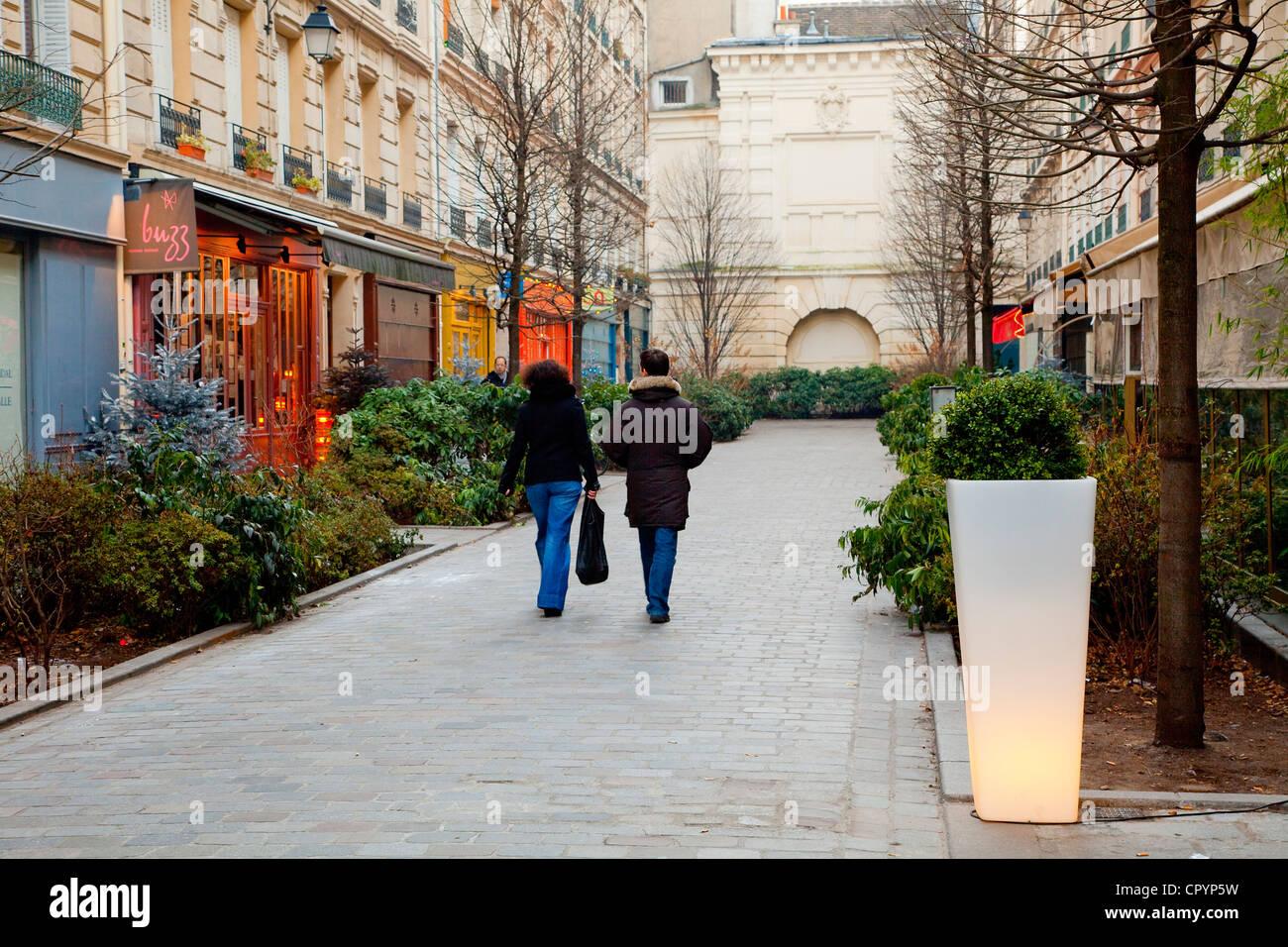 France, Paris, Marais District, Rue du Tresor - Stock Image