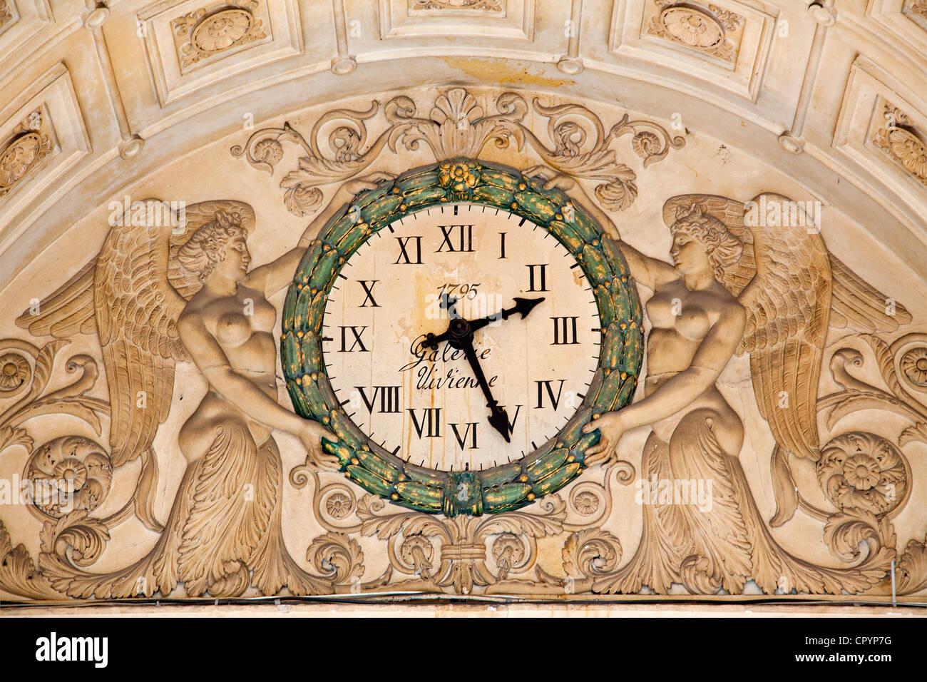 France, Paris, Galerie Vivienne Stock Photo