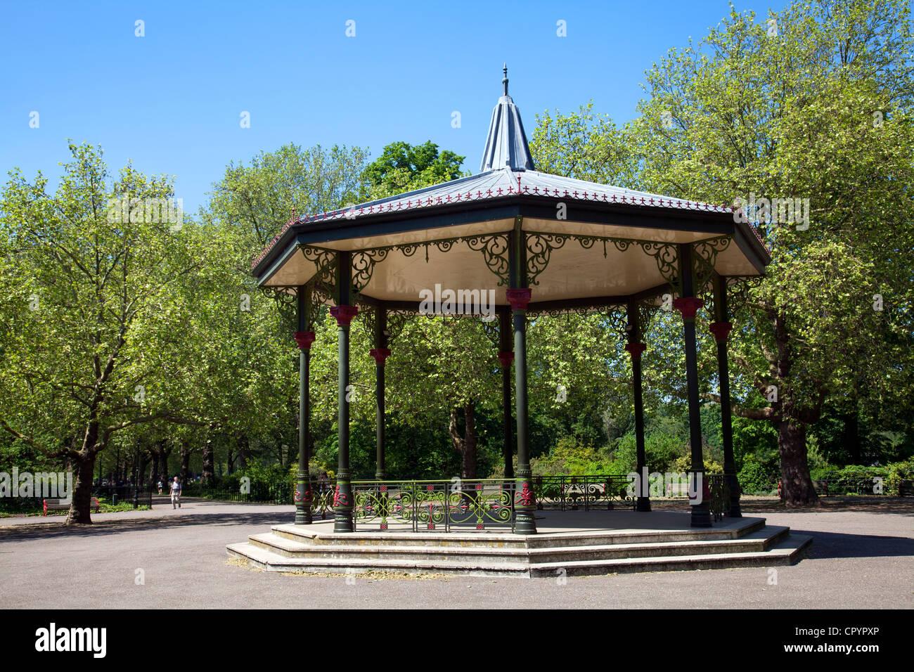 Battersea Park Bandstand - London UK - Stock Image