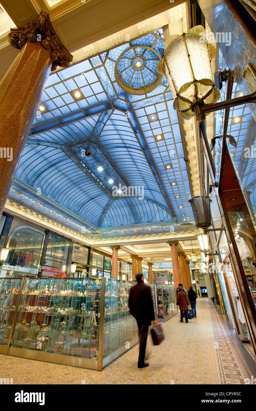 France, Paris, Arcades des Champs Elysees - Stock Image