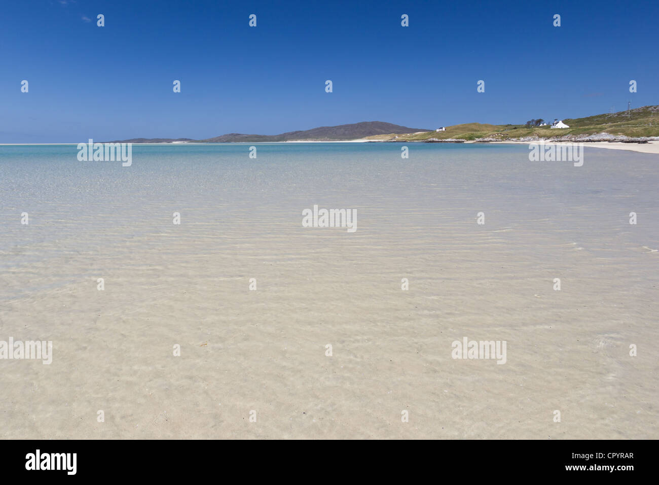 The beach of Luskentyre (Isle of Harris - Outer Hebrides of Scotland) - Stock Image