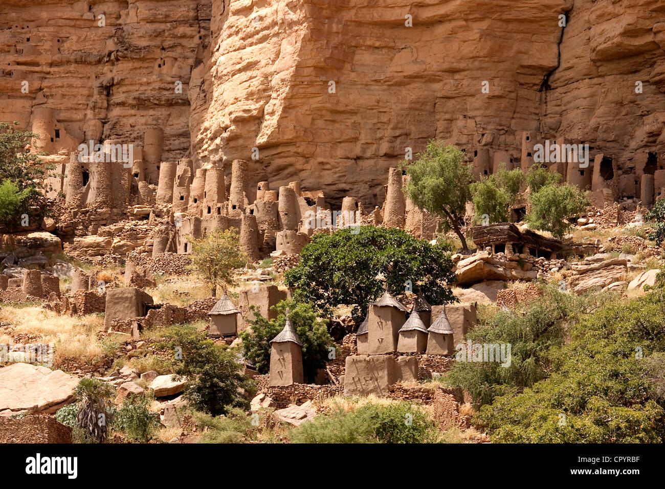 Mali Dogon Country Village And Tellem Houses Stock Photo Alamy
