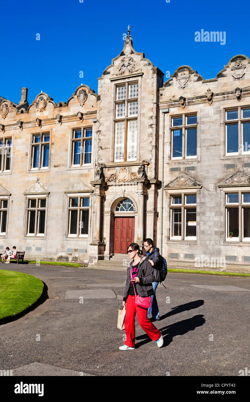 St Andrews University, St Salvators quadrangle, St Andrews, Fife, Scotland. - Stock Image