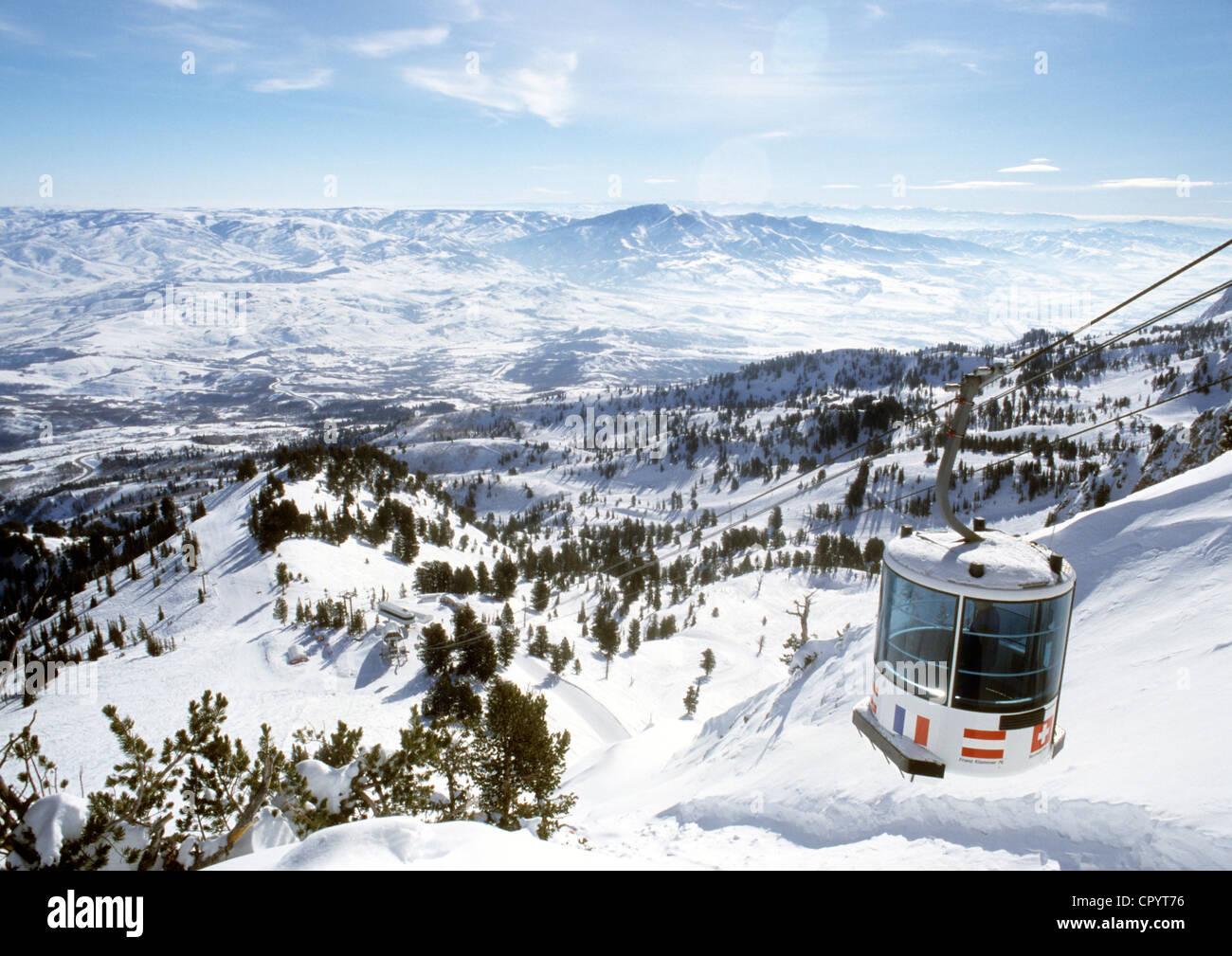 united states, utah, snowbasin ski resort stock photo: 48554890 - alamy