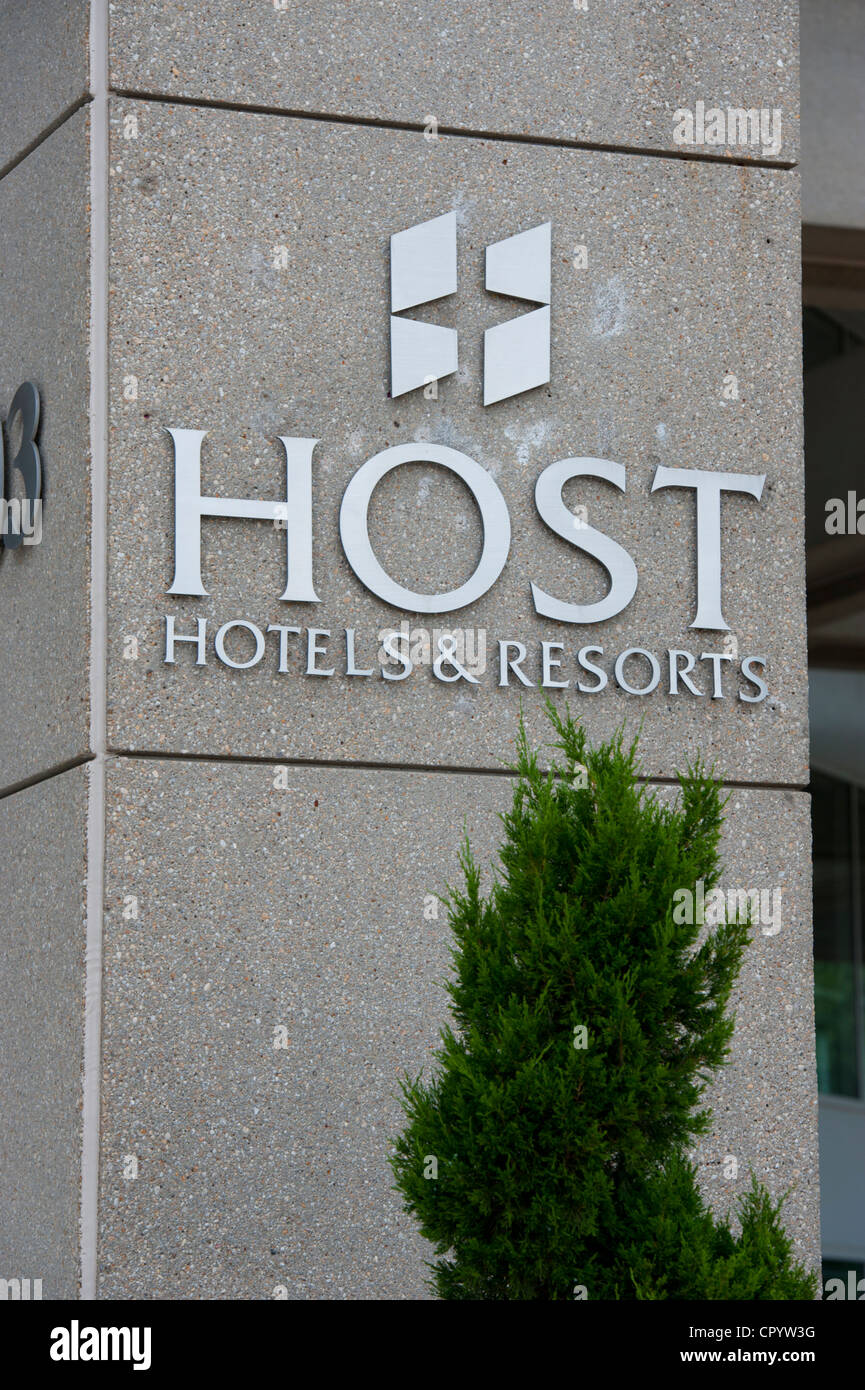USA Maryland Bethesda - Host Hotels and Resorts headquarters - a division of the Marriott Corporation - Stock Image
