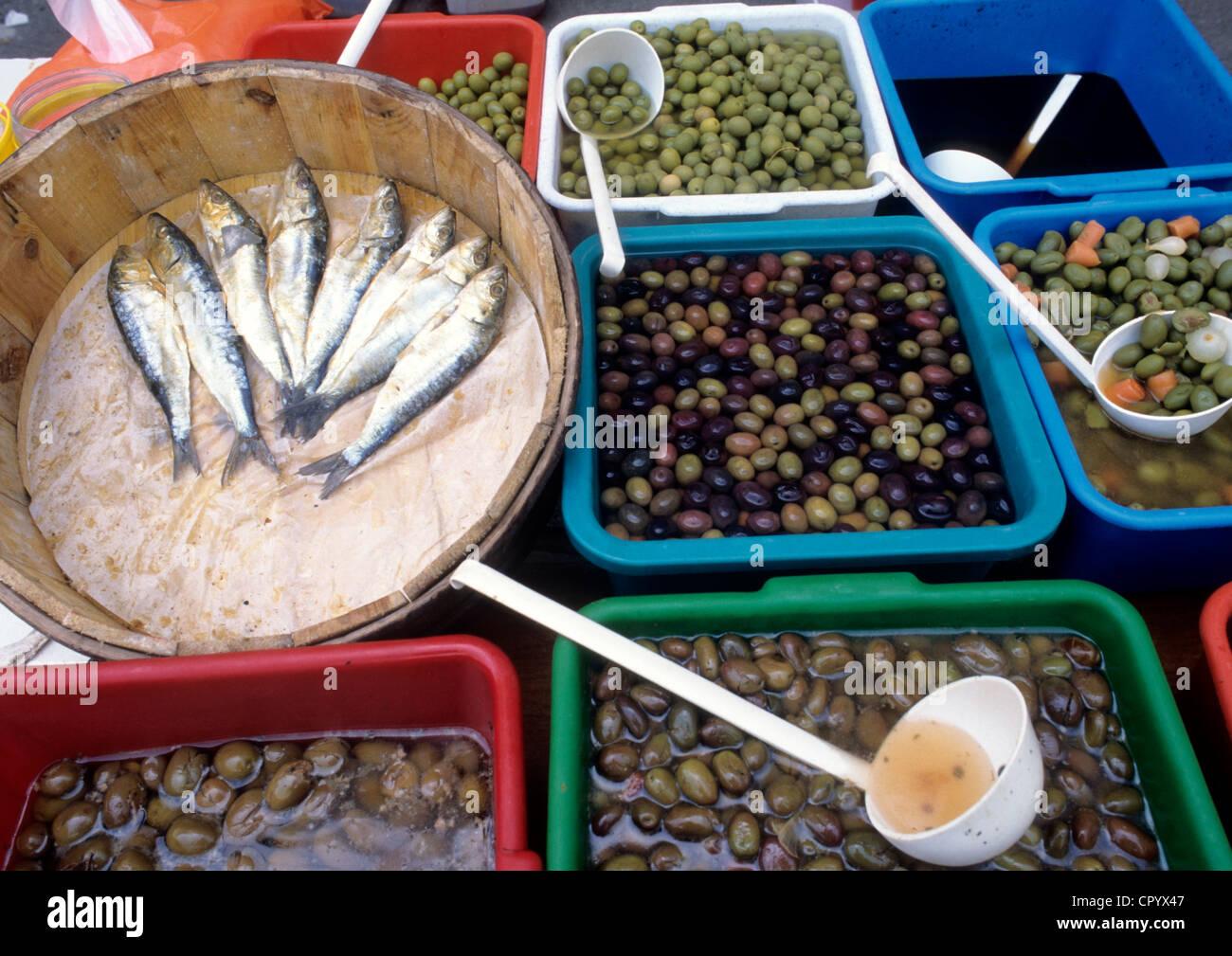 Spain, Catalonia, Barcelona, Las Ramblas, Boqueria Market - Stock Image