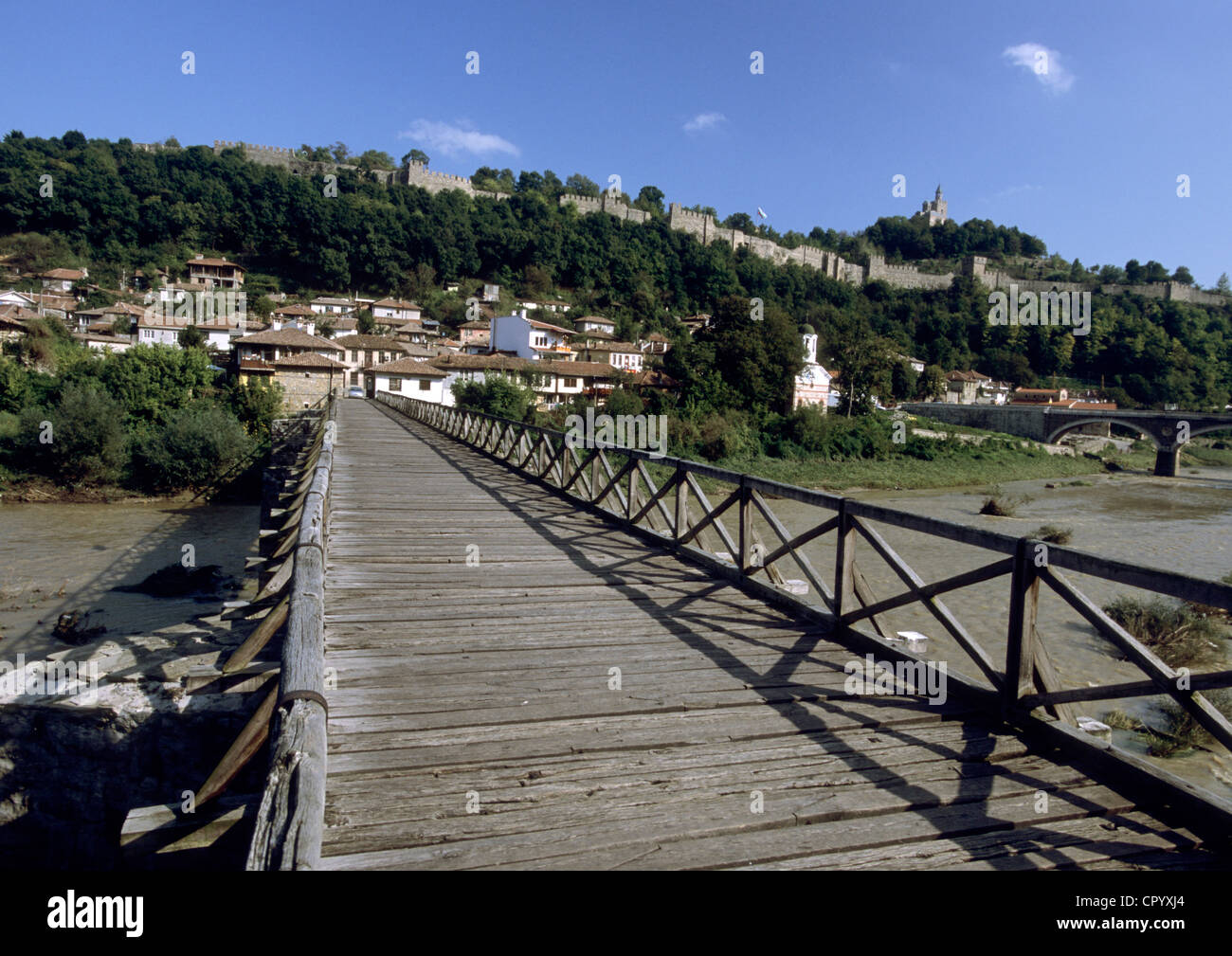 Bulgaria, Veliko Tarnovo on the Yantra River Stock Photo