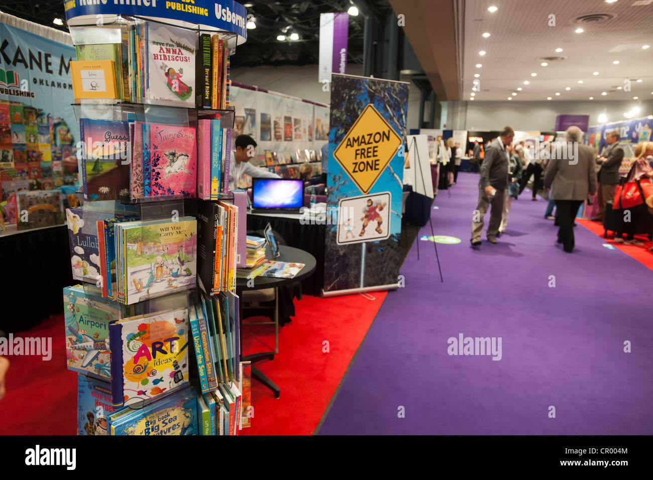 The Educational Development Corporation booth at the Book Expo America at the Jacob Javits Convention Center in - Stock Image