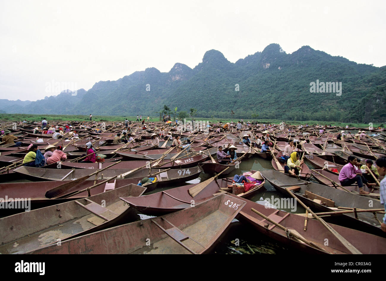 Vietnam, My Duc, Perfume pagada festival - Stock Image