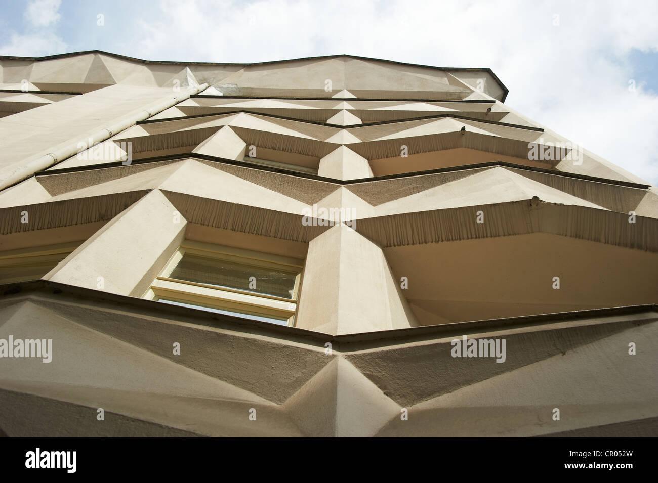 Cubistic Building by Josef Chochol Neklanova Street Prague Czech RepublicStock Photo