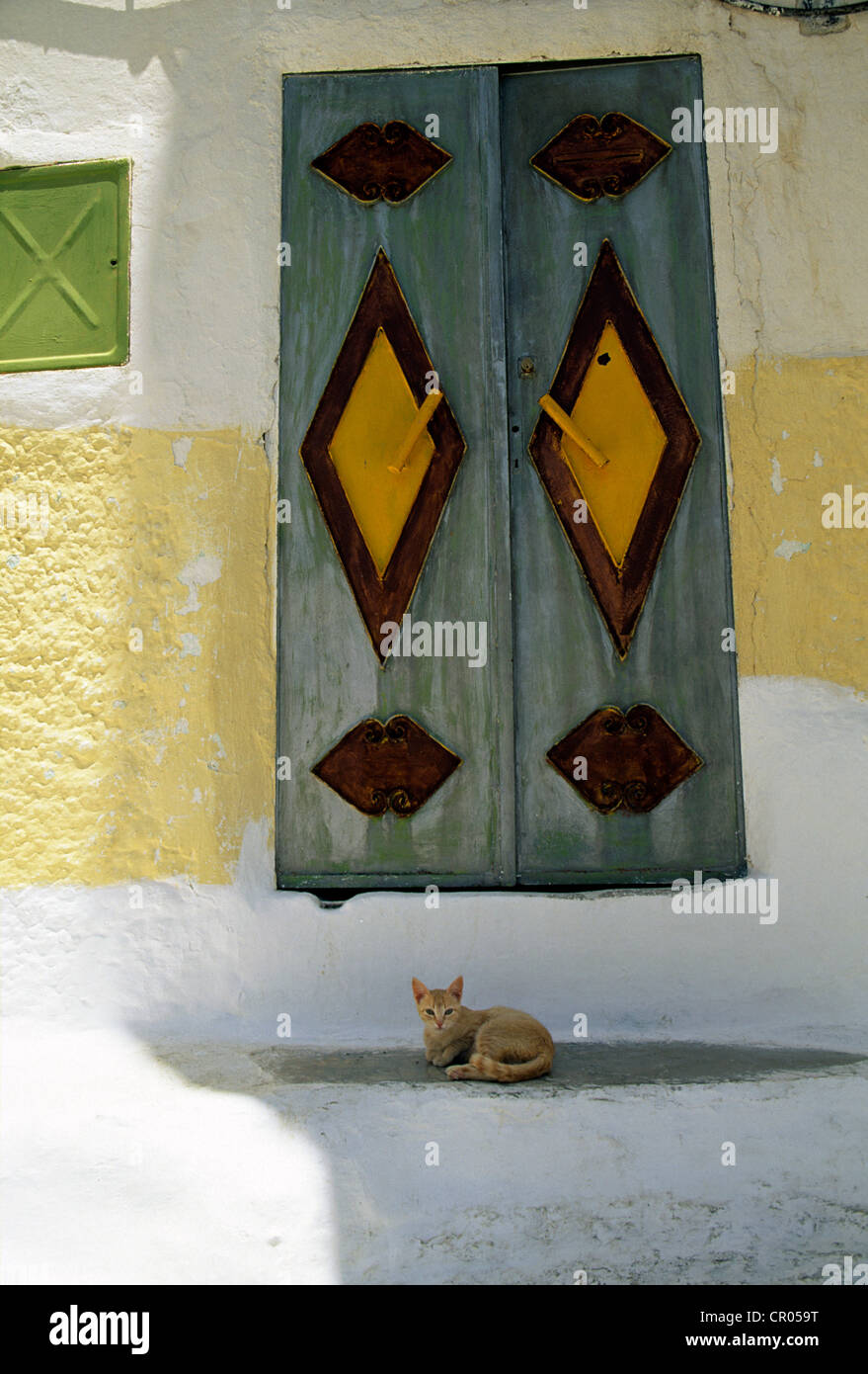 Morocco, Moulay Idriss Holy City, which shelters the Idriss I's Mausoleum, the founder of Morocco and of the - Stock Image