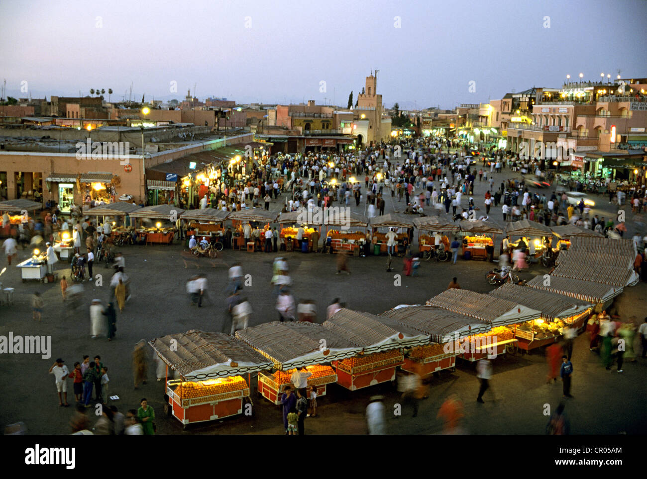 Morocco, High Atlas, Marrakesh, Imperial City, medina listed as World Heritage by UNESCO, Jemma El Fna Square by Stock Photo