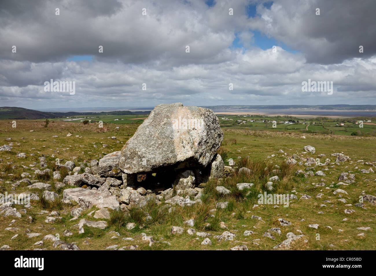 Arthur's Stone Burial Chamber Gower Wales UK - Stock Image