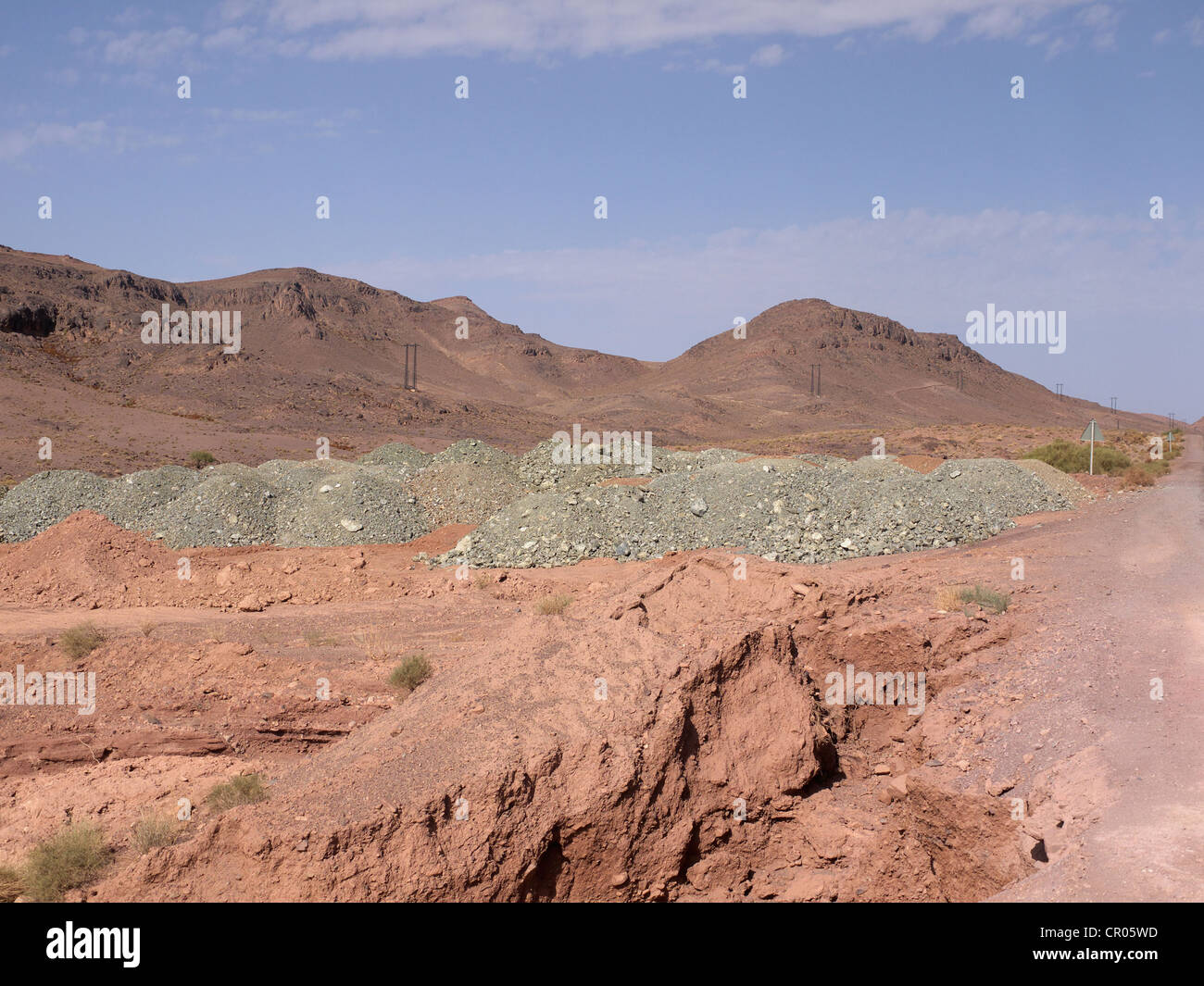 Phosphorus deposits in the Draa Valley, near Tazenakht, Morocco, North Africa, Africa - Stock Image