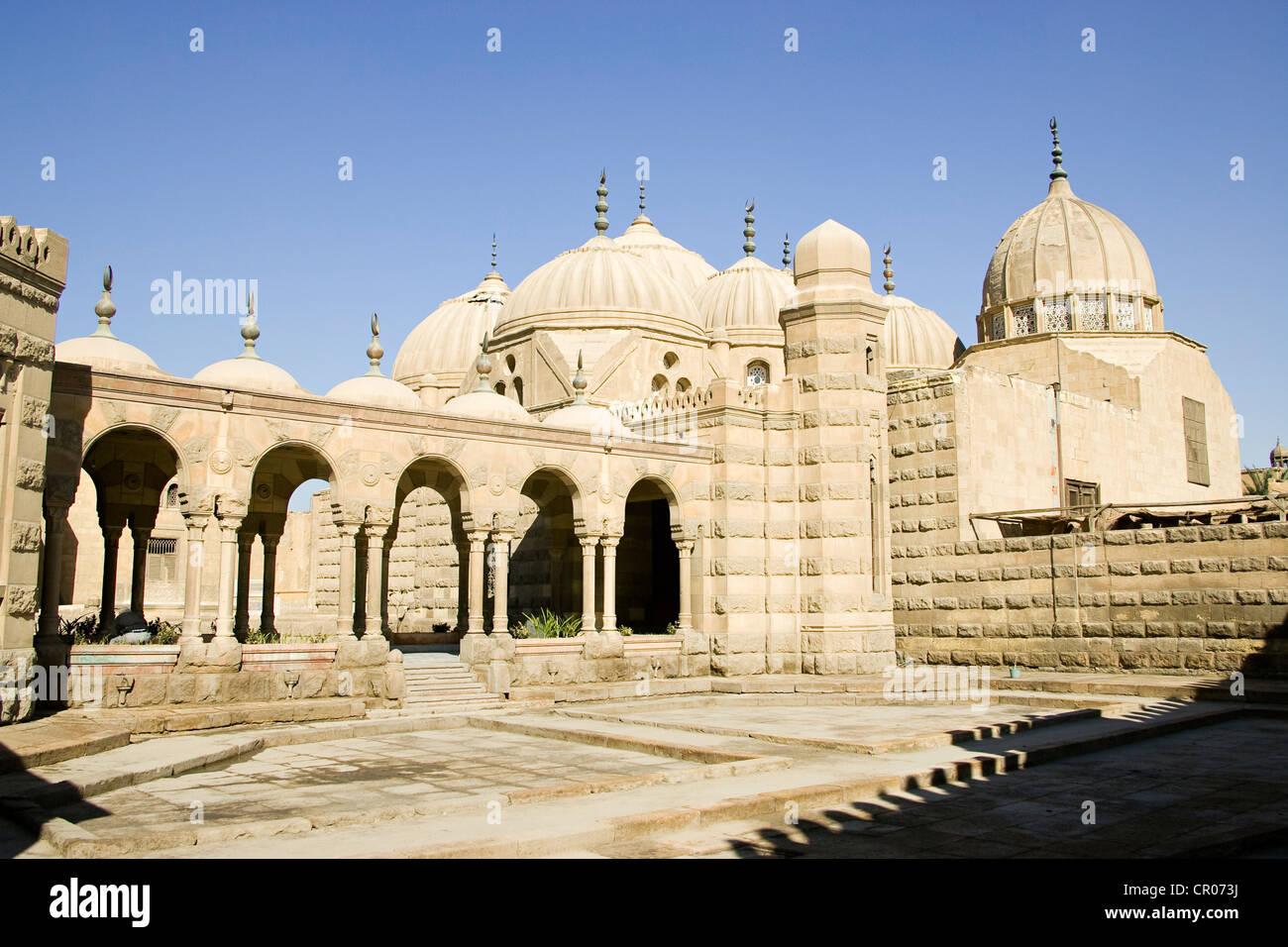 Egypt, Cairo, City of the Dead, Hoch el Bacha Mausoleum - Stock Image