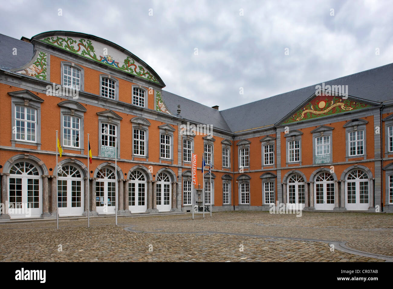 Quartier Abbatial / Abbot Palace at the abbey of Saint Hubert at Saint-Hubert, Ardennes, Belgium - Stock Image