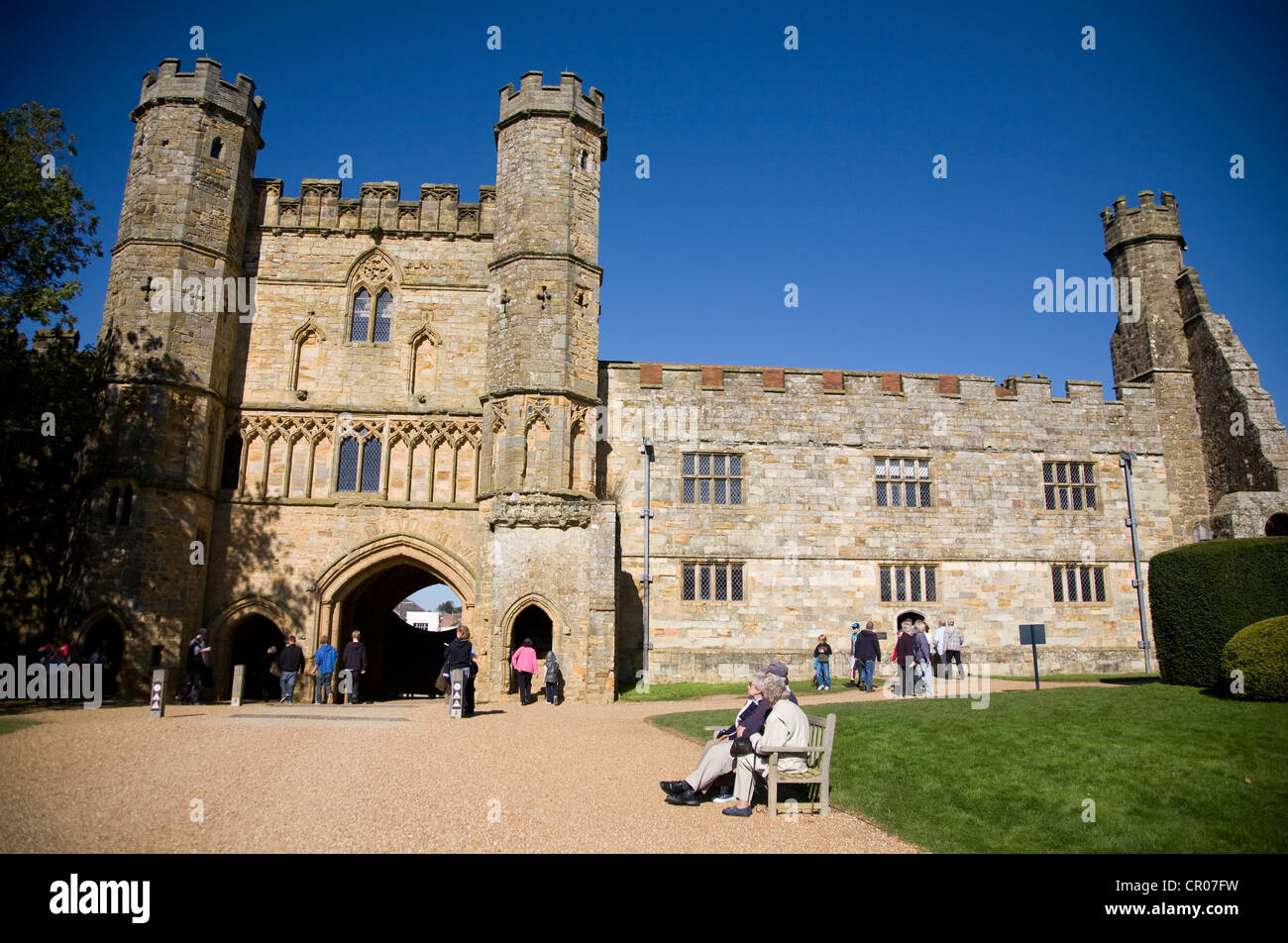 Facade of the main entrance gate. Battle Abbey. East Sussex. England. - Stock Image