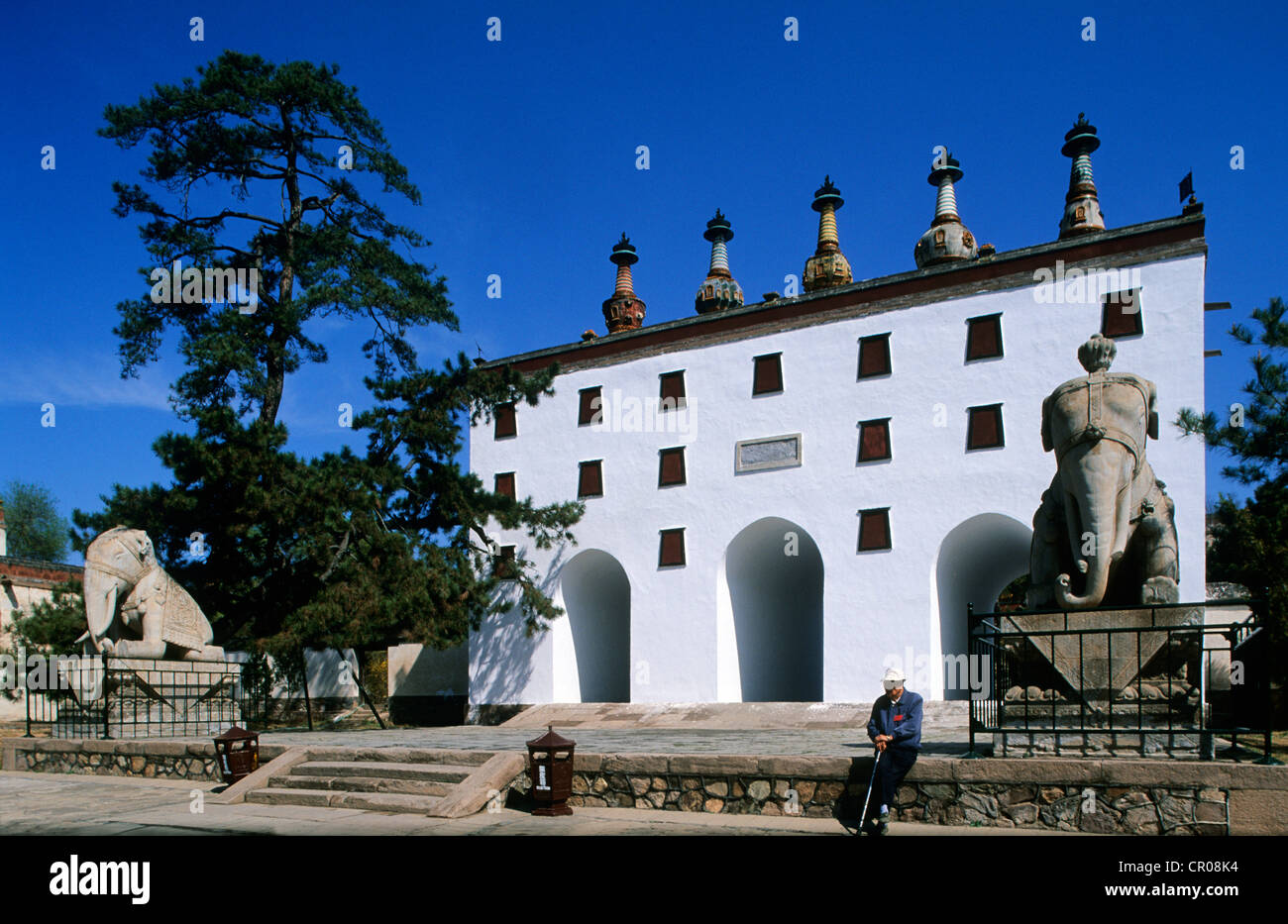 China, Hebei Province, Chengde city, the Putuozongshen temple of the Potala school - Stock Image