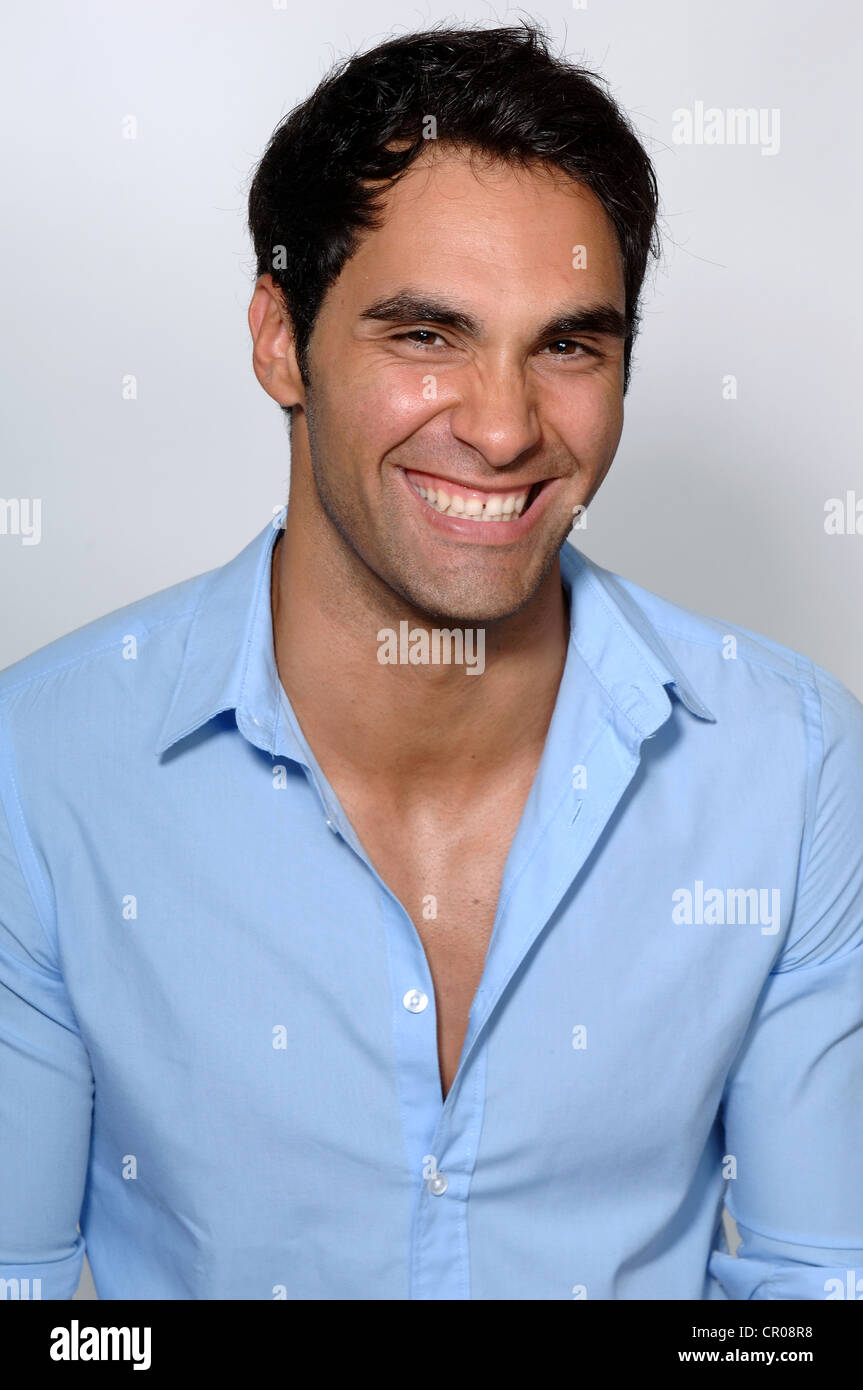 21-year-old Man, Portrait, Smiling Stock Photo: 48564748
