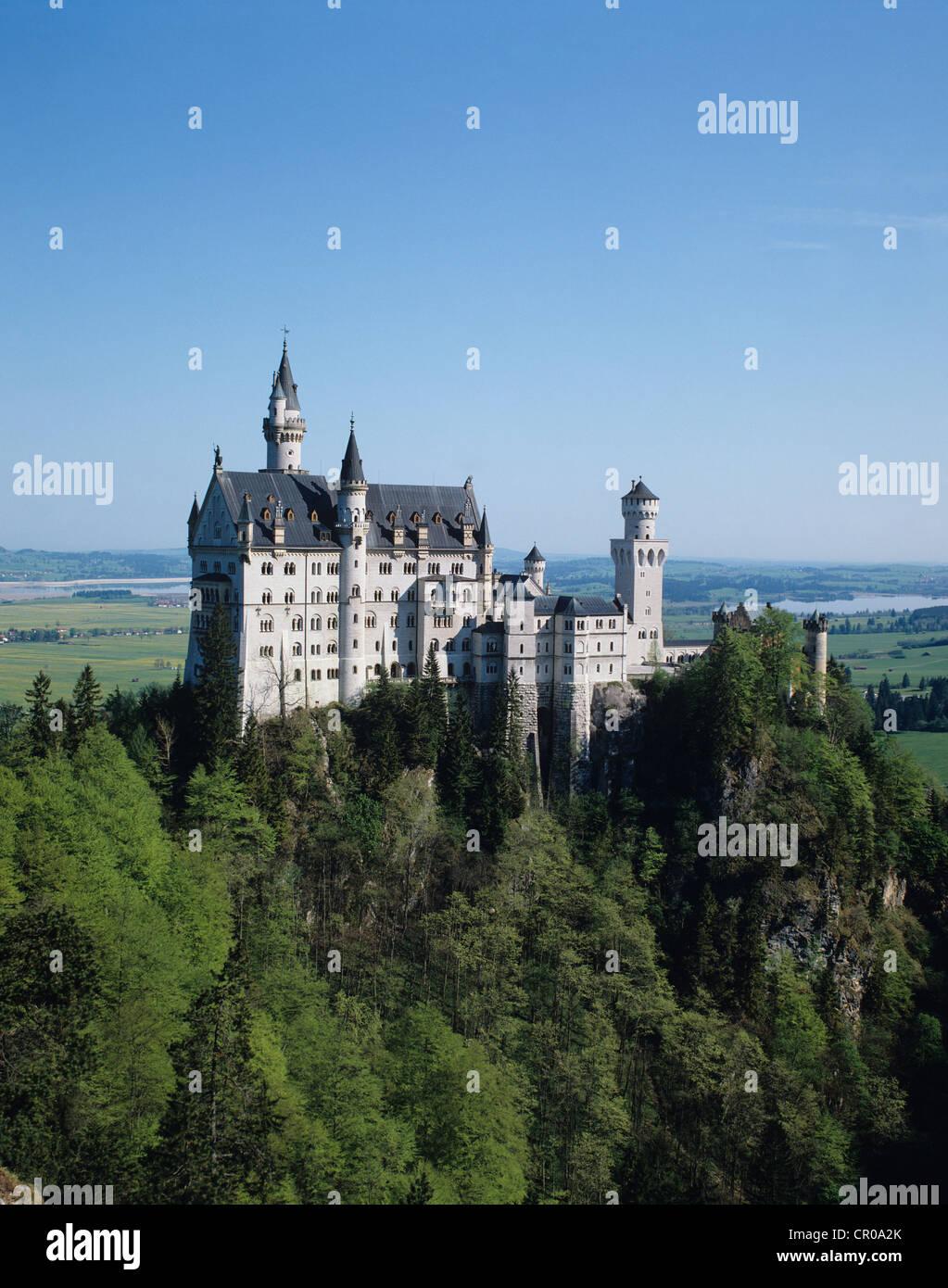 Germany. Neuschwanstein Castle. - Stock Image
