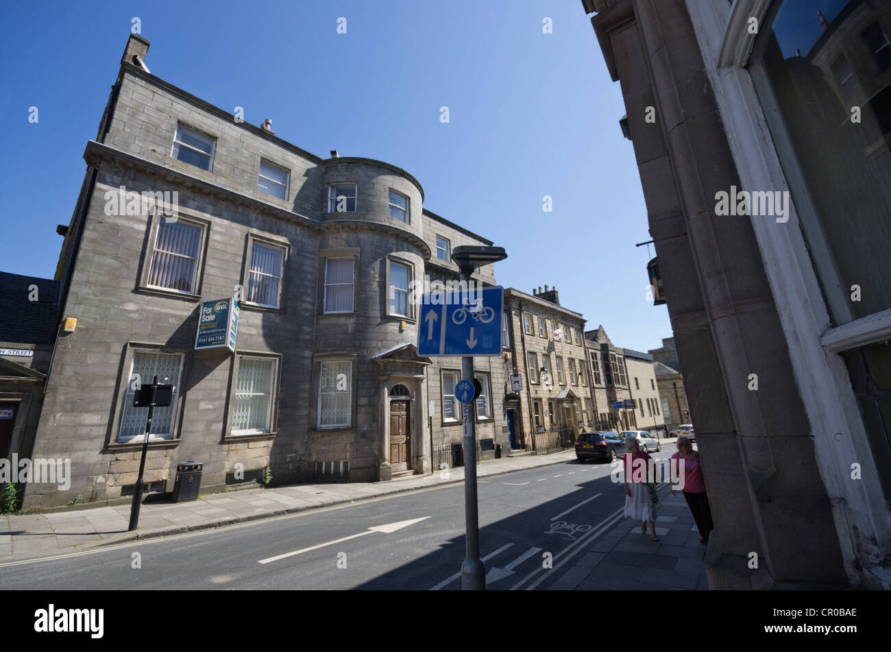 80 Church Street Lancaster English Heritage Grade 2* listed building now used for offices for sale June 2012 - Stock Image