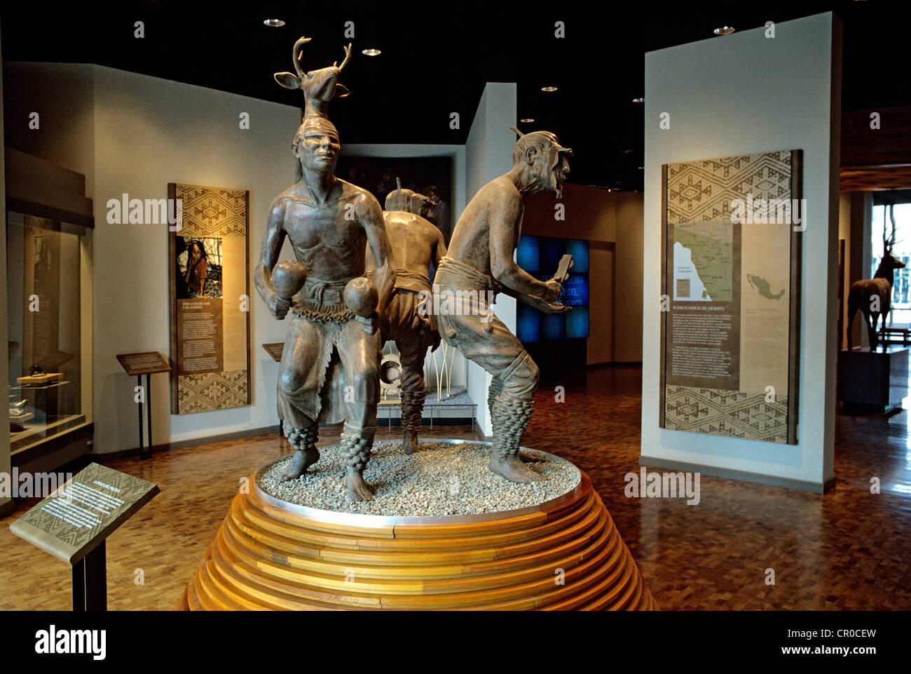 Mexico Federal District Mexico City Museo Nacional de Antropología MNA or National Museum of Anthropology scene - Stock Image