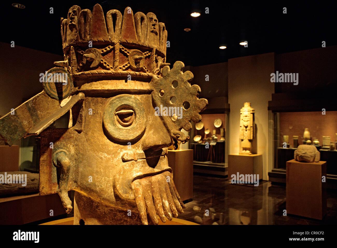 Mexico, Federal District, Mexico City, Museo Nacional de Antropología (MNA, or National Museum of Anthropology), - Stock Image