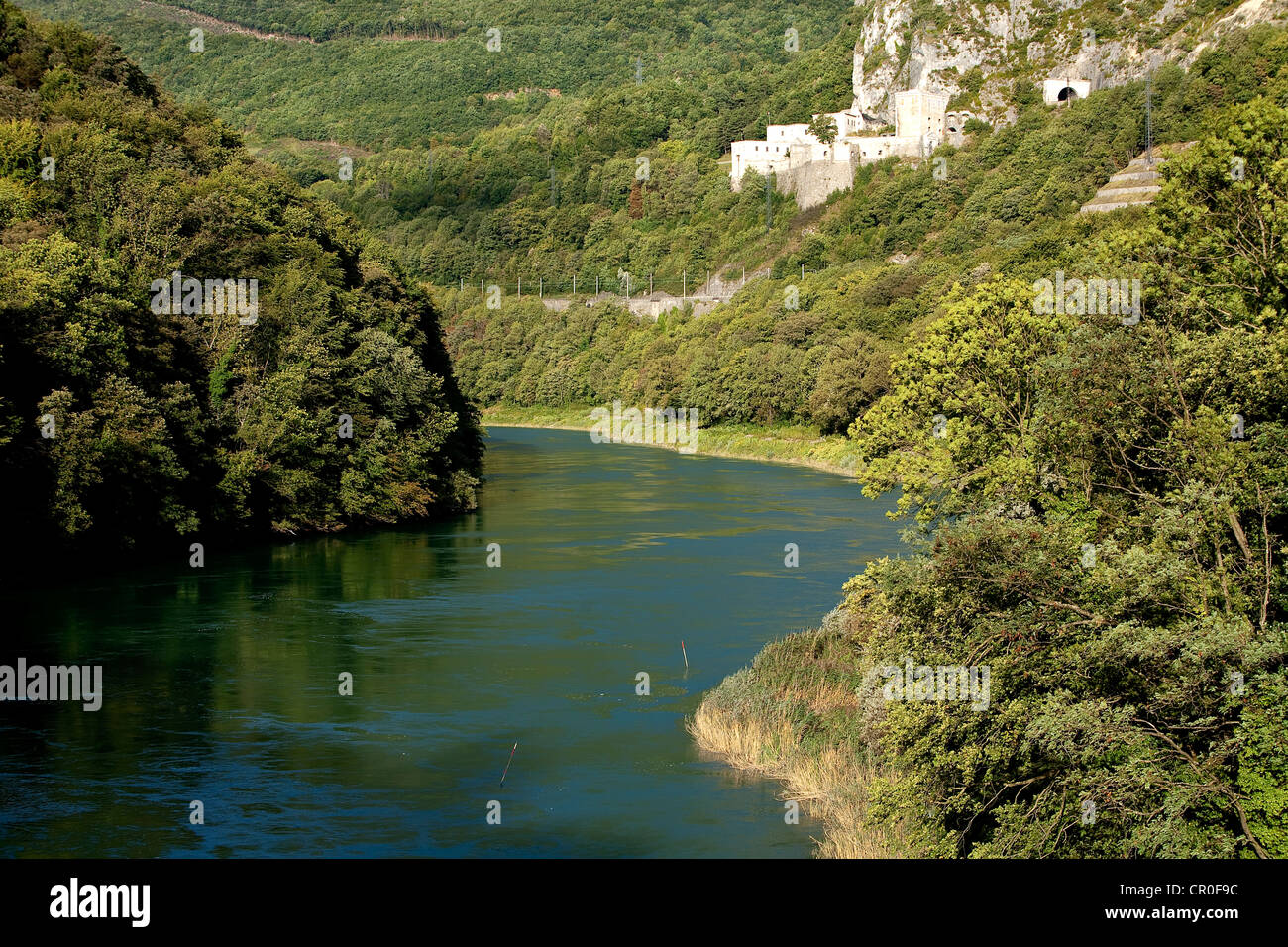 France, Ain, site of Defile de L'Ecluse and fortifications of Fort L'Ecluse - Stock Image