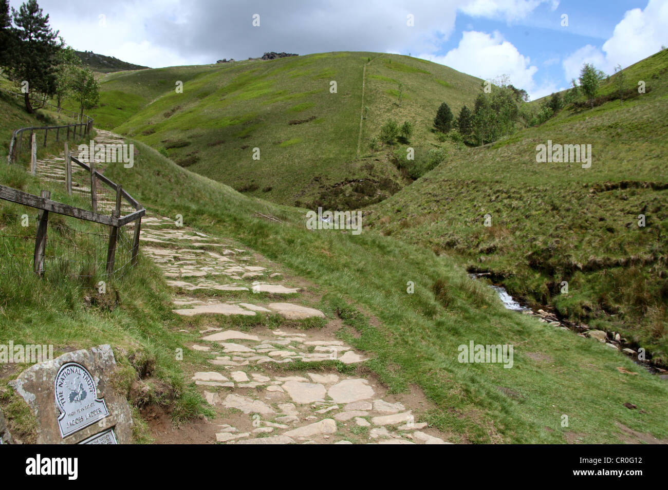 Jacobs Ladder Path to the Plateau of Kinder Scout - Stock Image