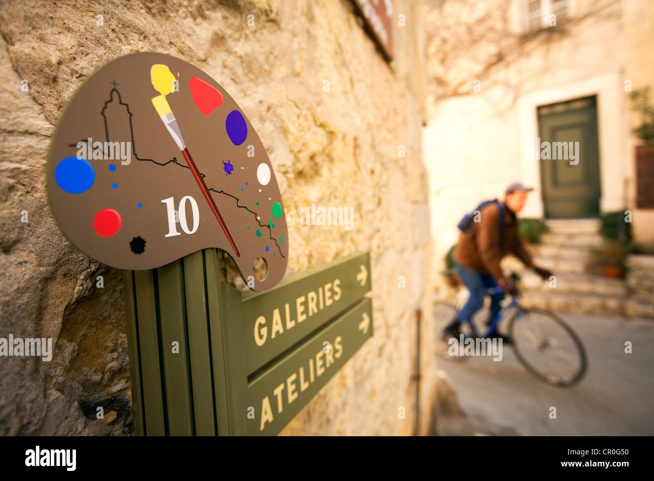 France, Alpes Maritimes, Mougins, Artists itinerary - Stock Image