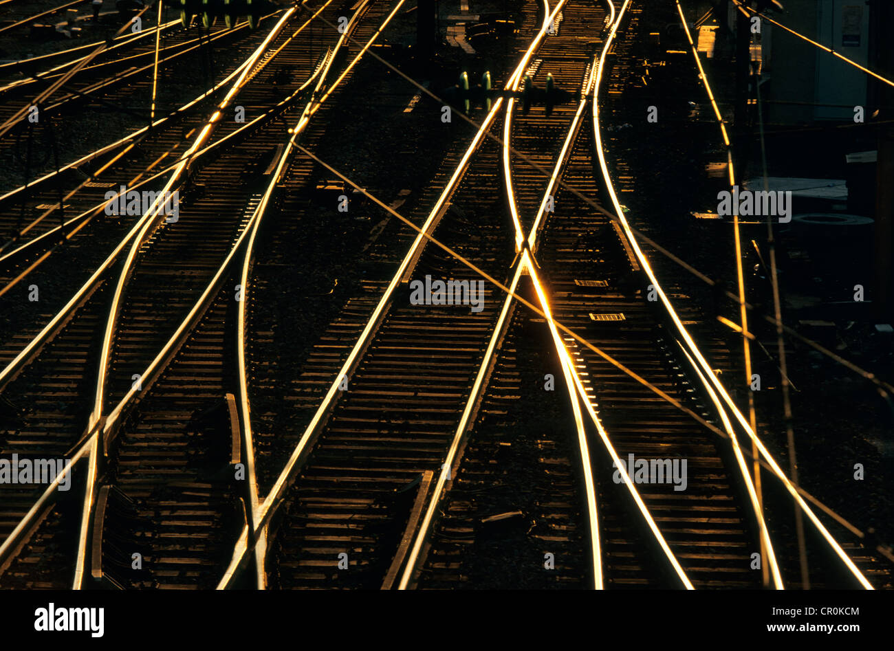 France, railway tracks network - Stock Image