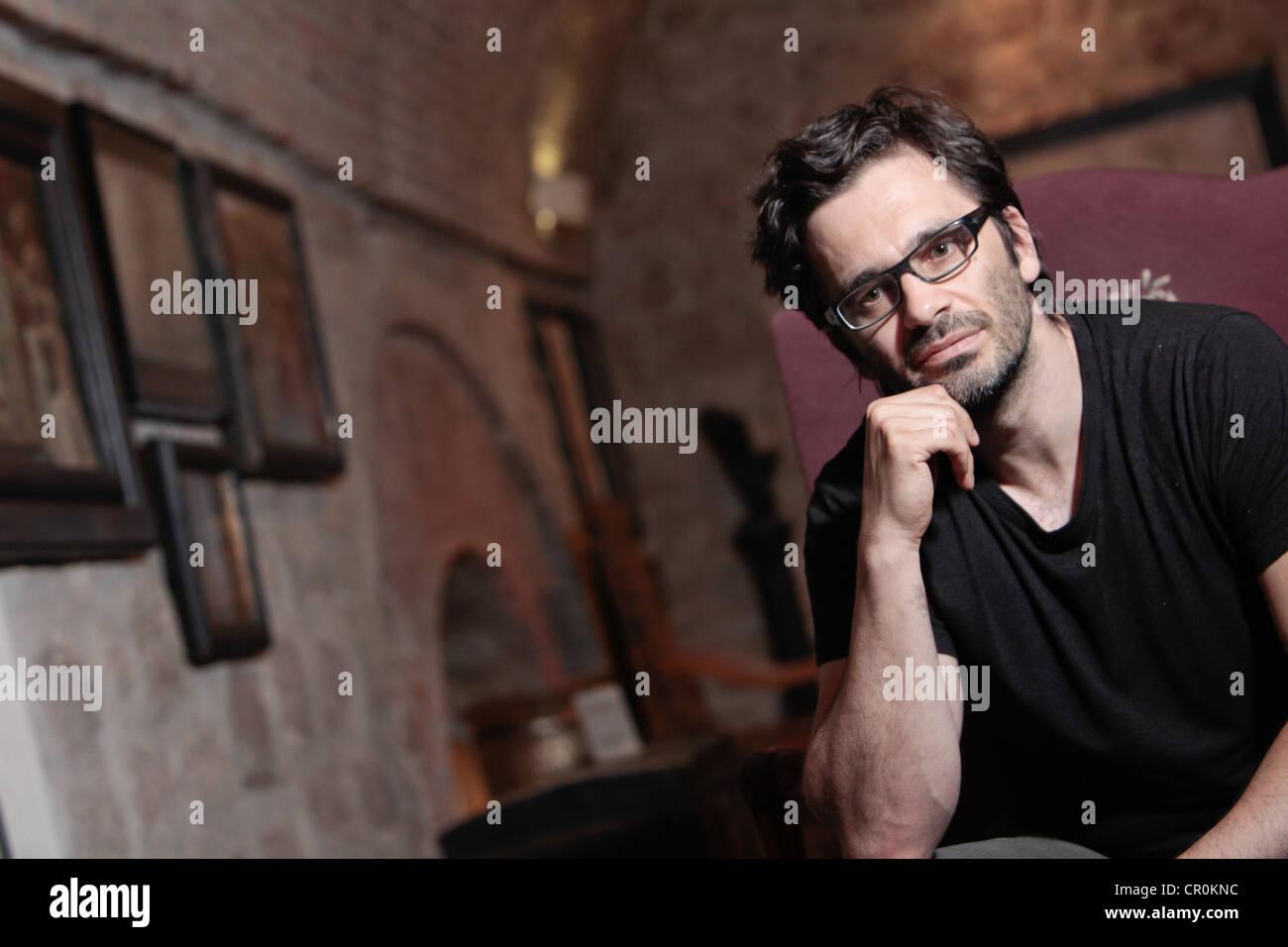 German  freelance journalist and writer Nicol Ljubić with Croatian origin. - Stock Image