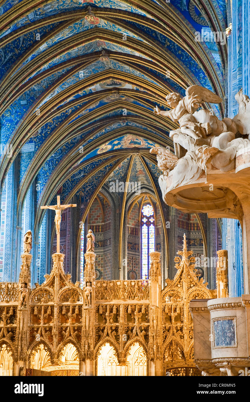 France Tarn Albi the episcopal city listed as World Heritage by UNESCO cathedrale Sainte Cecile d'Albi (St Cecilia - Stock Image