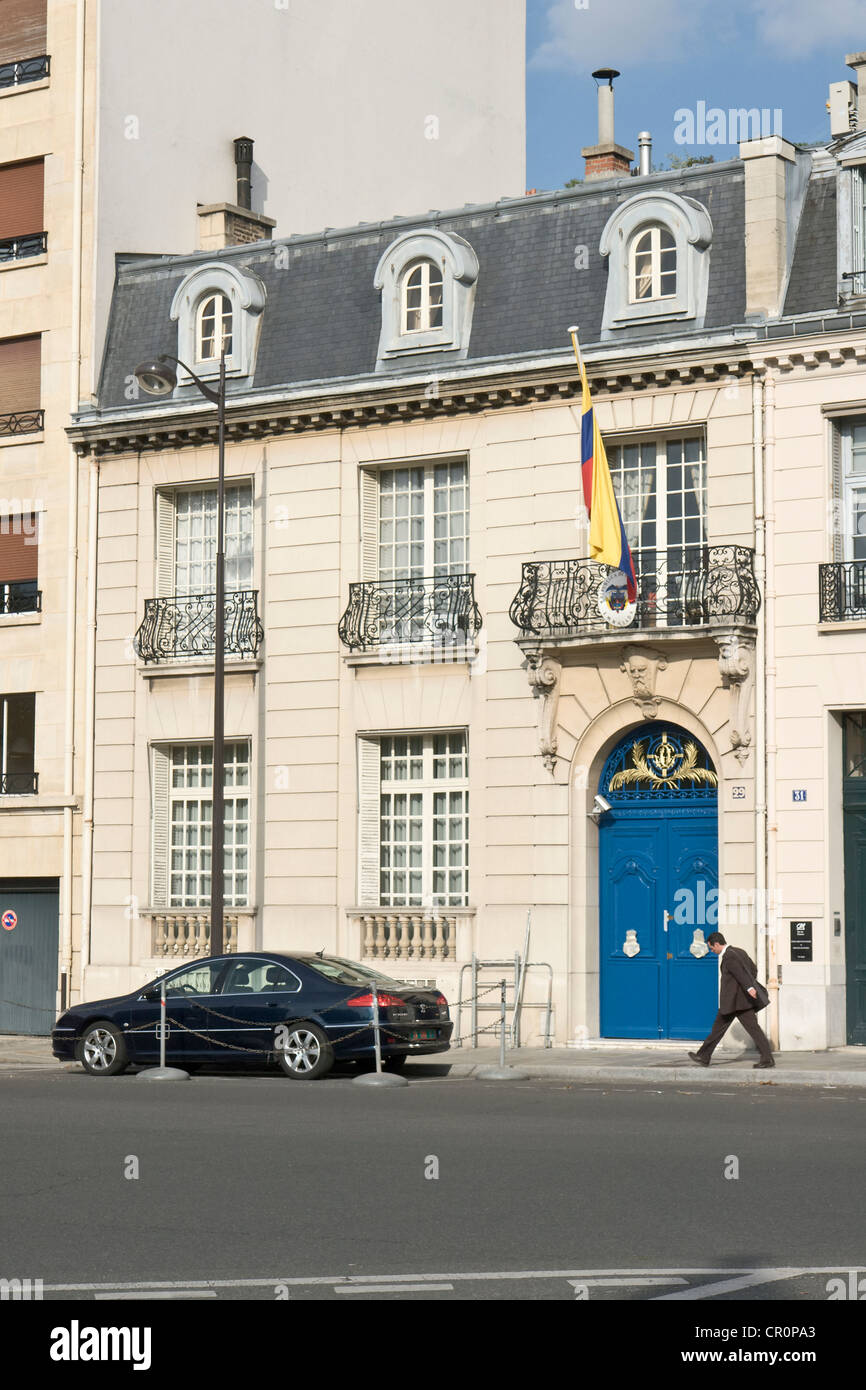 Embassy of Colombia, Paris - Stock Image